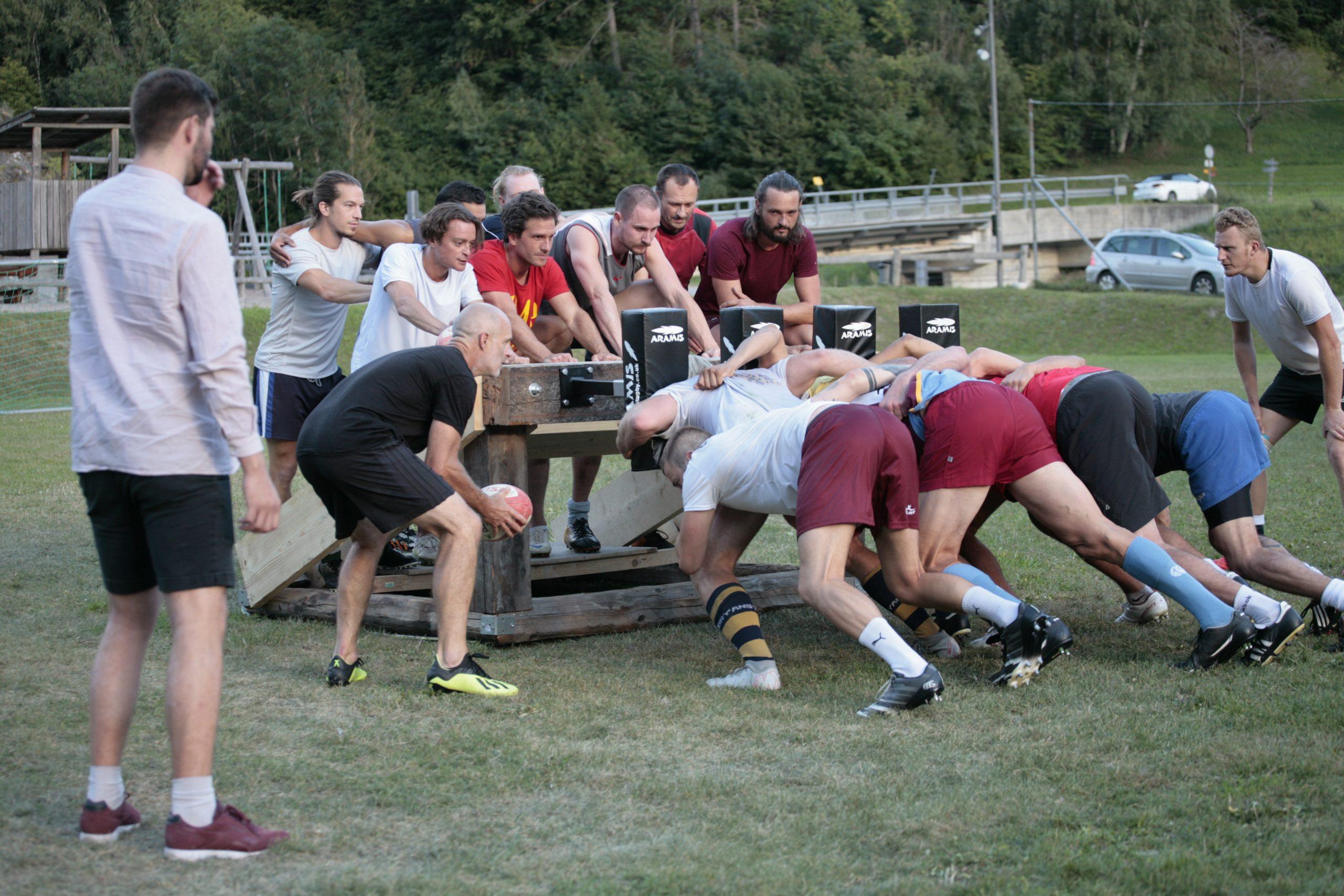 Rugby Scrum Verbier